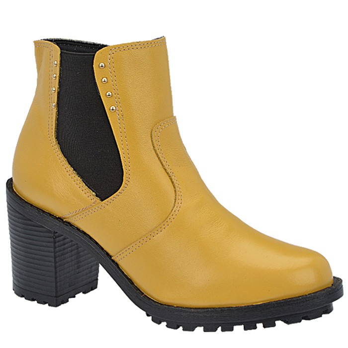 873aca74b Bota Estilo Chelsea Tratorada De Bonna - 500 Amarelo